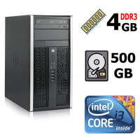 Компьютер HP 6300 Core™ i3-3220 3,30GHz (2 ядра, 4 потока), DDR3 4GB, HDD 500GB, DVDRW, Keyboard, Mouse
