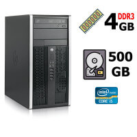 Компьютер HP 6300 Core™  i5-3570 3,4GHz (4 ядра, 4 потока), DDR3 4GB, HDD 500GB, DVDRW, Keyboard, Mouse